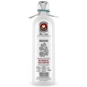"""Бабушка Агафья """"Белая Агафья"""" шампунь для волос органический репейный, укрепление и блеск"""
