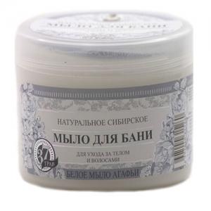 РЕЦЕПТЫ БАБУШКИ АГАФЬИ Натуральное сибирское мыло для бани Белое 500 мл