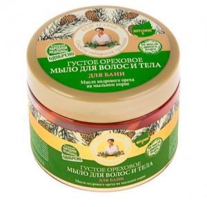 РЕЦЕПТЫ БАБУШКИ АГАФЬИ Мыло для волос и тела Ореховое для бани 300 мл