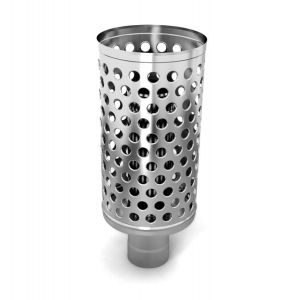 Каменка натрубная Дизель, d115, 1/0.5 мм нерж.сталь