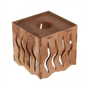"""Плафон деревянный """"Ветер"""", коричневый, 10*10*10см"""