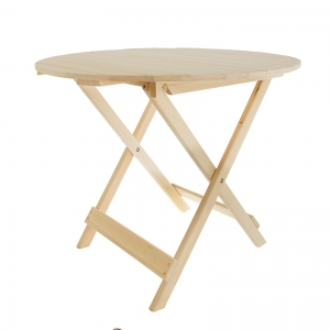 Стол складной круглый 80 х 80 х 75 см, липа