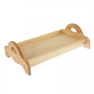 Поднос деревянный с ручками, 430х280 мм, бук