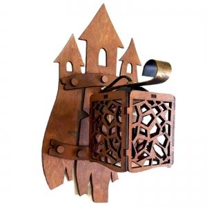 """Бра деревянное """"Мозаика"""", оформление замок"""