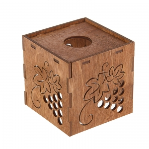 """Плафон деревянный """"Виноград"""", коричневый, 10*10*10см"""