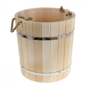 Запарник с пластиковой вставкой 18 л, липа Добрая баня