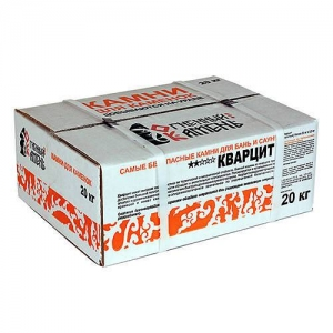 Кварцит (20 кг, обвалованный, коробка, мытый)